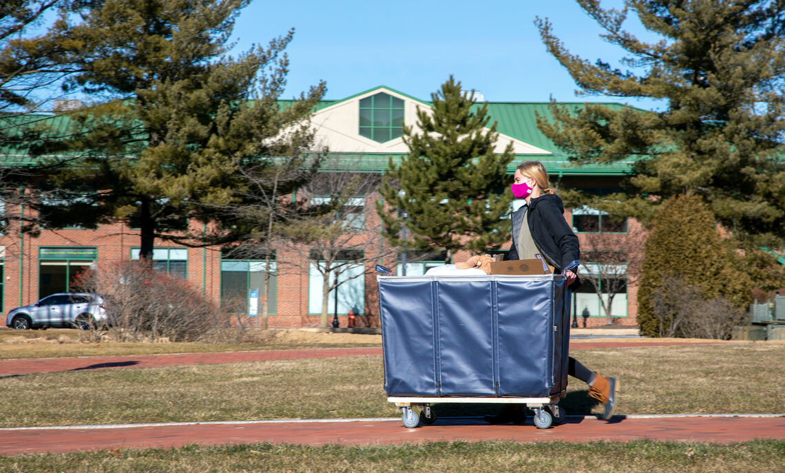 Spring 2021 semester student move-in.