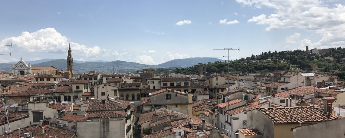 Roofs of Florence; view from Palazzo Vecchio.
