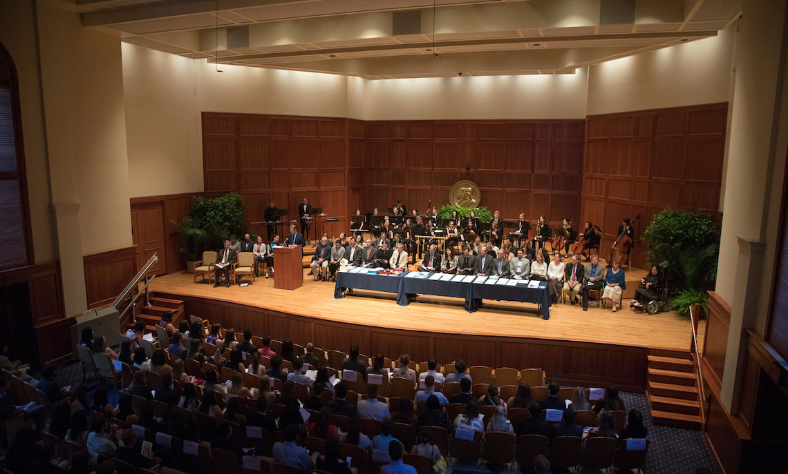 The 2018 Awards Day Ceremony in The Barshinger Center for Musical Arts in Hensel Hall.