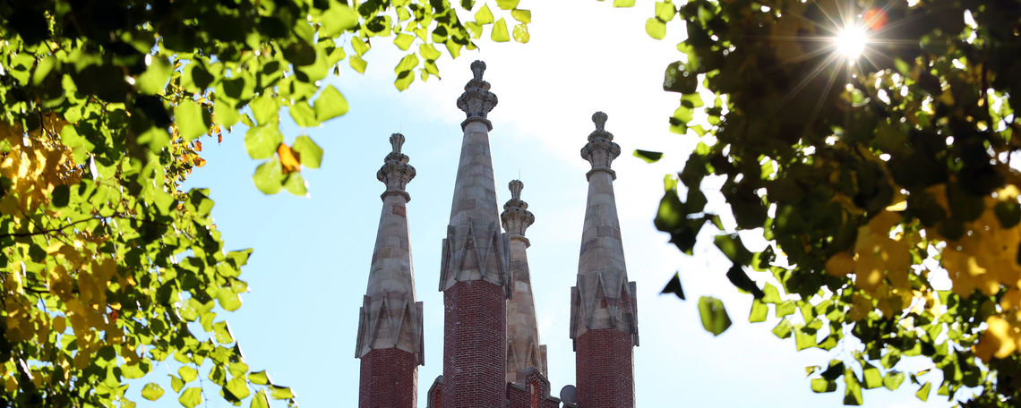old main spires fall
