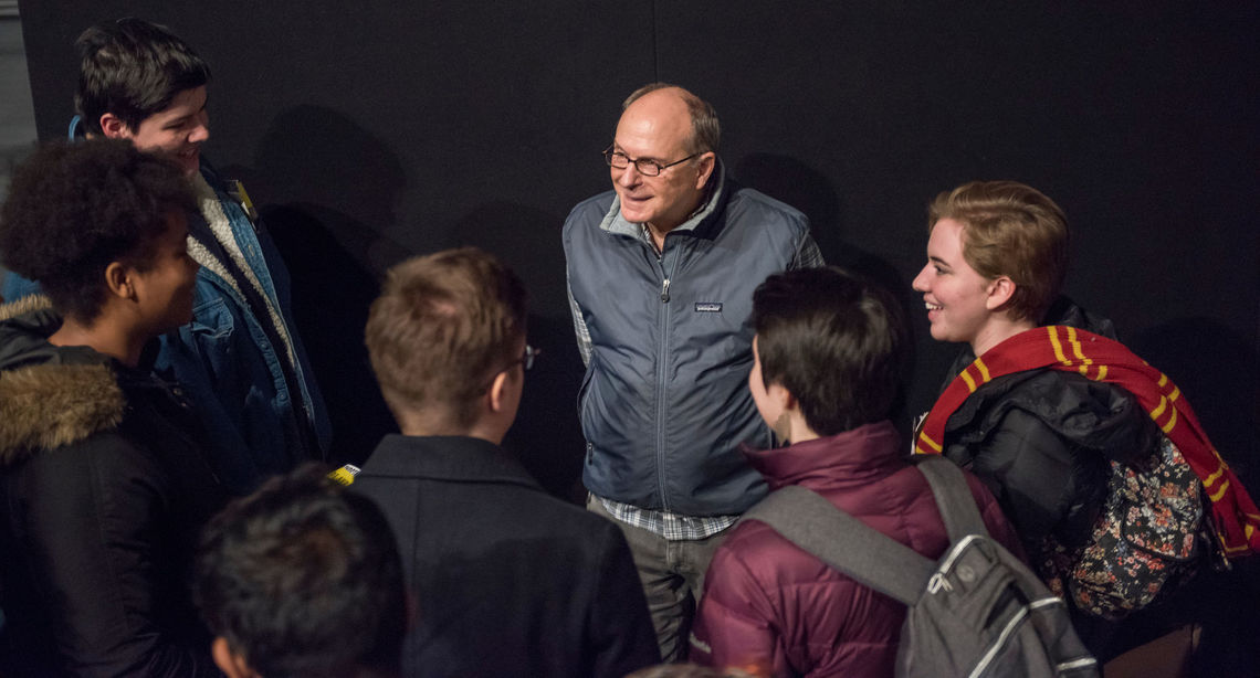 James Lapine '71, a 12-time Tony Award nominee and three-time winner, spoke with F&M students.