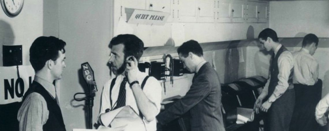 nbc radio news room 1941