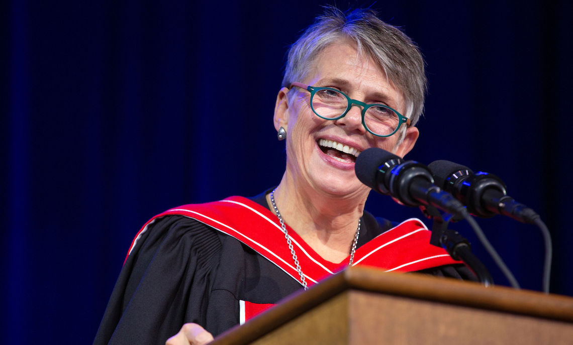 """As F&M's new president, Altmann said the College's task is """" to continue to make the case that the education students can get here at F&M is exactly what each successive generation of leaders needs to be those learned people who can wisely rule the world."""""""