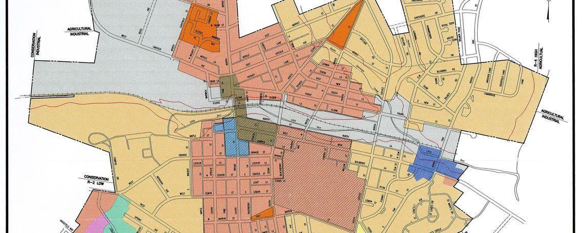 Borough of Lititz zoning map