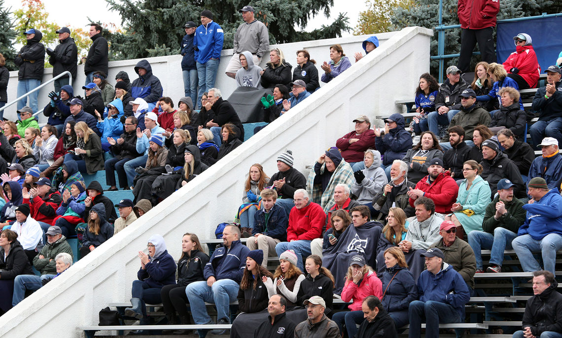 Cold, windy weather did little to deter fans of the Franklin & Marshall football team from packing Sponaugle-Williamson Field for the Diplomats' battle against Dickinson College Saturday. Dickinson prevailed, 13-7.