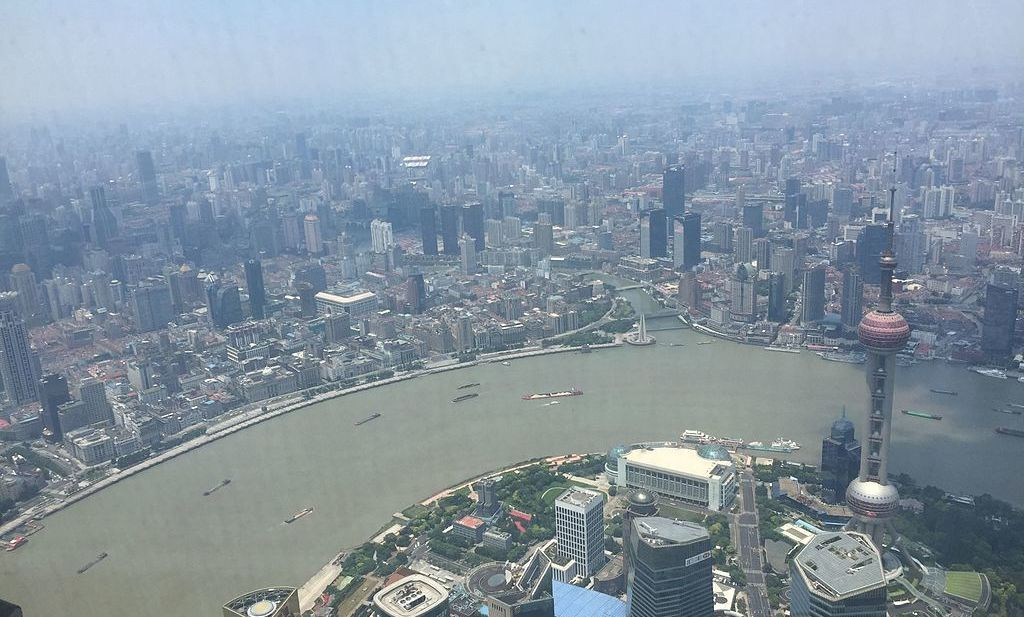 Shanghai today, a bustling mega city with global aspirations.