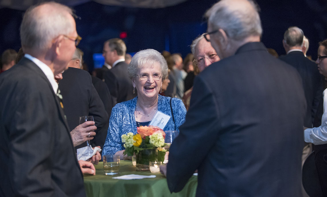 The College's most loyal supporters gather in the Alumni Sports & Fitness Center Saturday evening for F&M's annual Tribute Dinner.