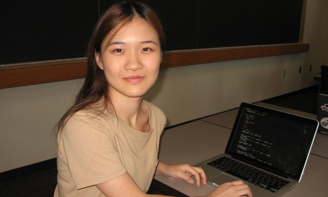 Prof. Annalisa Crannell and Yike Gong partnered together for summer research.