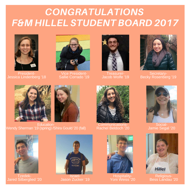 Franklin Marshall Hillel S Student Board 2017
