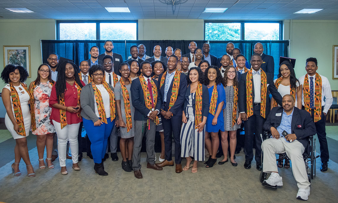 Members of the Class of 2017 are formally welcomed into F&M's African-American Alumni Council (AAAC). The council was founded in 1989. Membership is open to all F&M students and graduates of color.