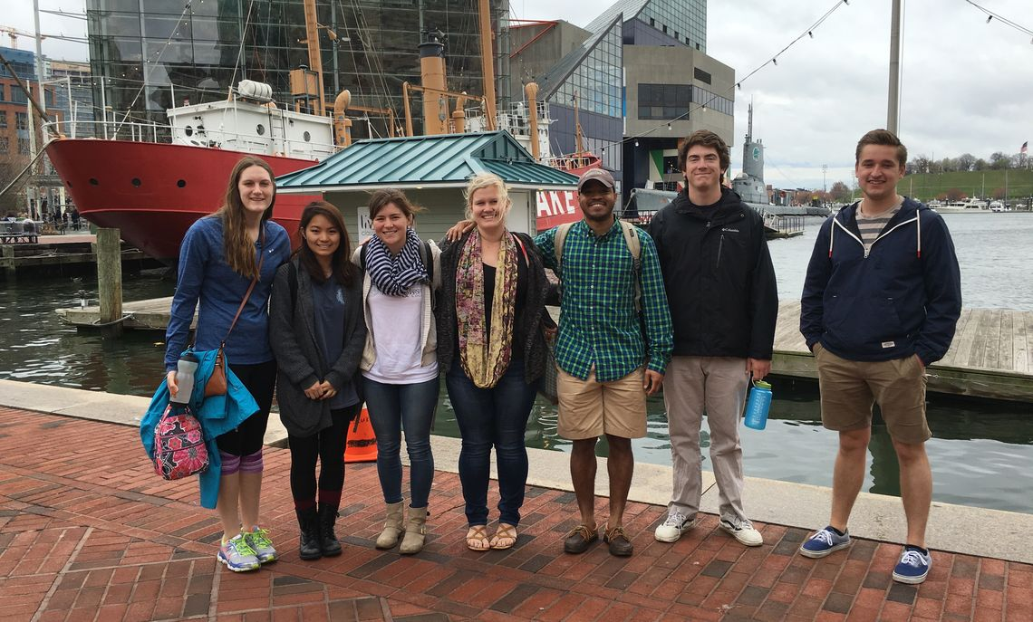 ENV 470 Marine Protected Areas field trip to National Aquarium, Spring 2016