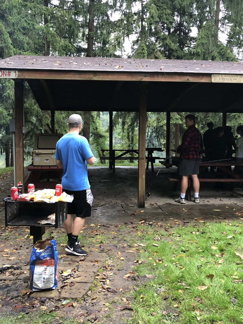Cookout at the pavilion at Grub Lake