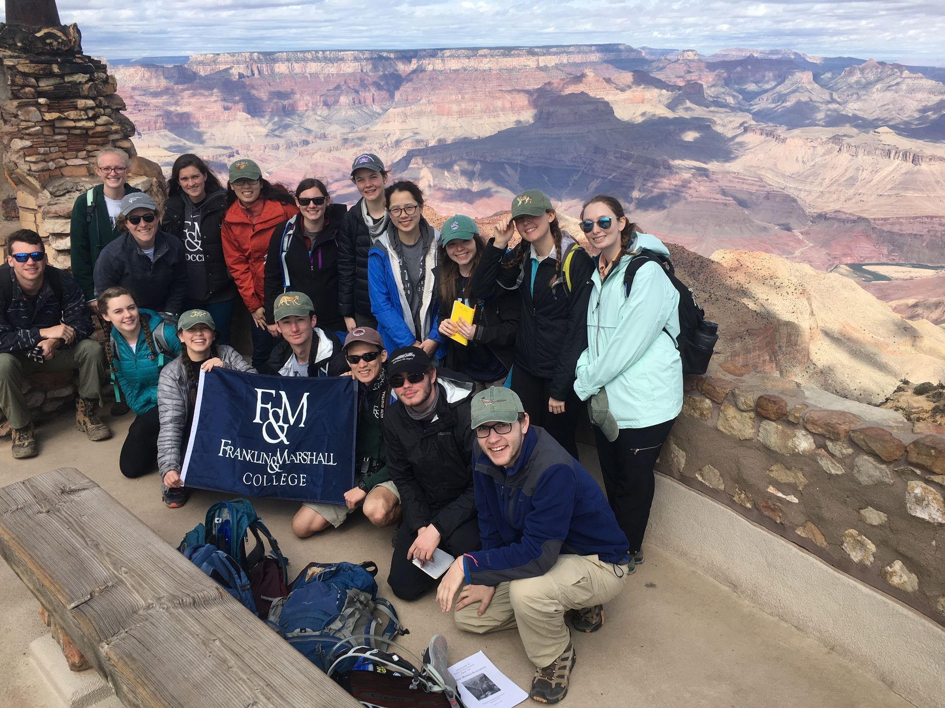 F&M students a the Grand Canyon 2018