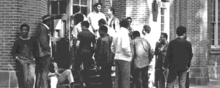Black Student Protest at Goethean Hall, 1969