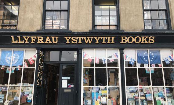 Llfrau Ystwyth Books, a used  book stores in Aberystwyth that Shaw visited.