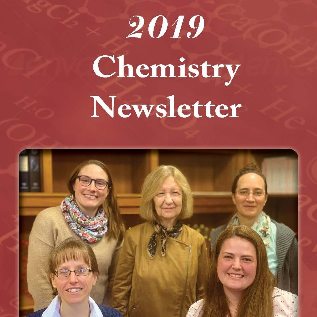 Cover of the 2019 Chemistry Newsletter
