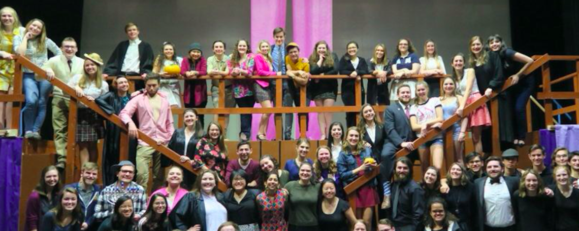 Cast and Crew of F&M Players Legally Blonde the Musical