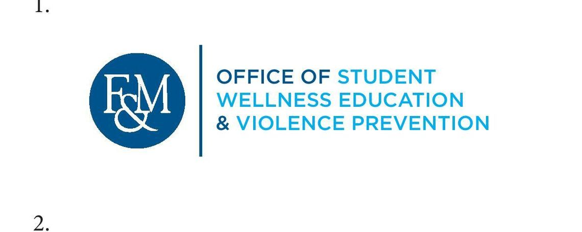 The Communications Office made this wordmark for the Office of Student Wellness Education and Violence Prevention.