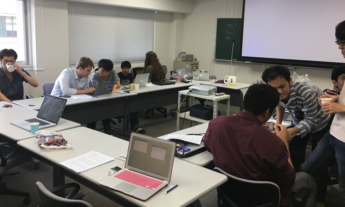 F&M students trained the Japanese graduate students on how to use the Arecibo Telescope in  Puerto Rico for remote observations. They made a few observations from Japan.