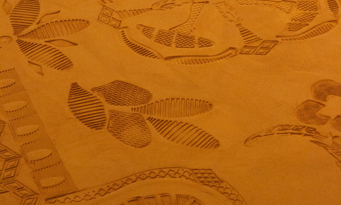 Red Dirt Rug (detail), January 2020. Courtesy of the artist.
