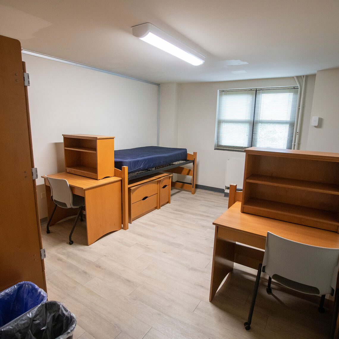 Typical room in North Benjamin Franklin Hall (Ware College House)