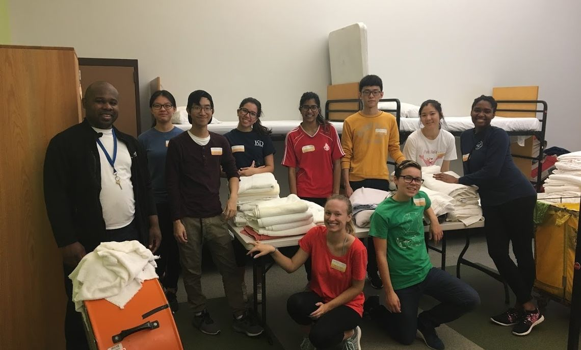 AFB students at DC shelter