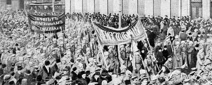 soldiers demonstration february 1917