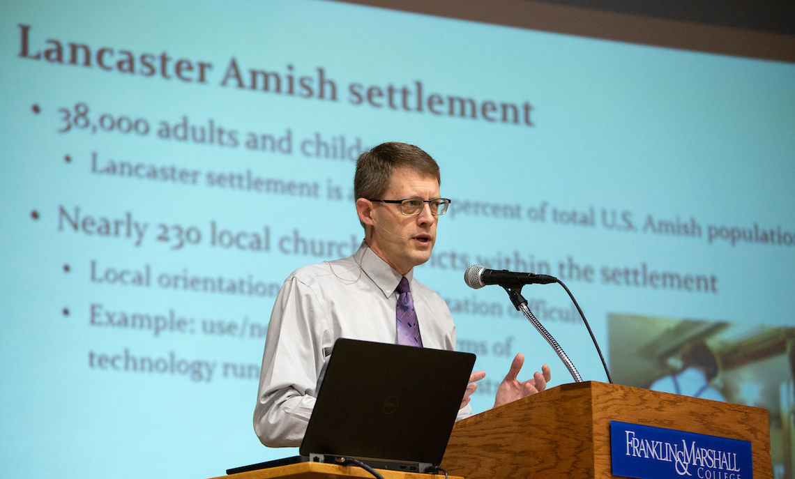 Professor Nolt, director of Elizabethtown's Young Center for Anabaptist and Pietist Studies, says an Amish-read newspaper took a hammering from its readers when it ran a political ad featuring a picture of candidate Trump.