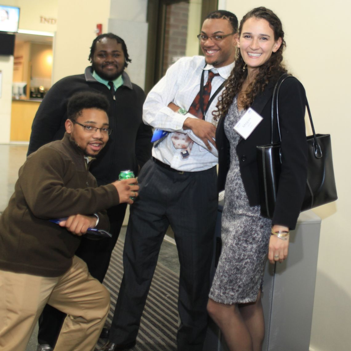 Megan Lipset '15 with some colleagues