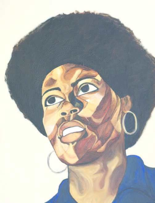 Beverly Nelson Muldrew '71, F&M's first Black female graduate. This painting by F&M alumna Intisar Hamilton '06 hangs in Old Main.