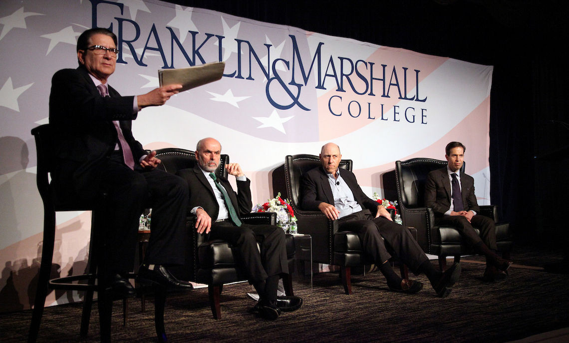 Members of the of Franklin & Marshall College community gathered at The Pierre hotel in New York City Nov. 3 for the last of three election forums hosted by F&M this fall and moderated by G. Terry Madonna, professor of public affairs and director of the Center for Politics and Public Affairs as well as the Franklin & Marshall College Poll.