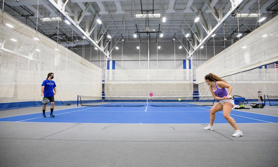 Spring 2021 tennis practice
