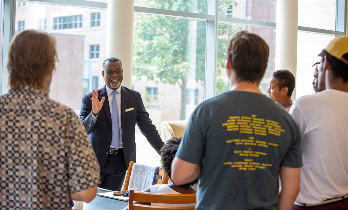 Professor Glaude and members of the F&M community.