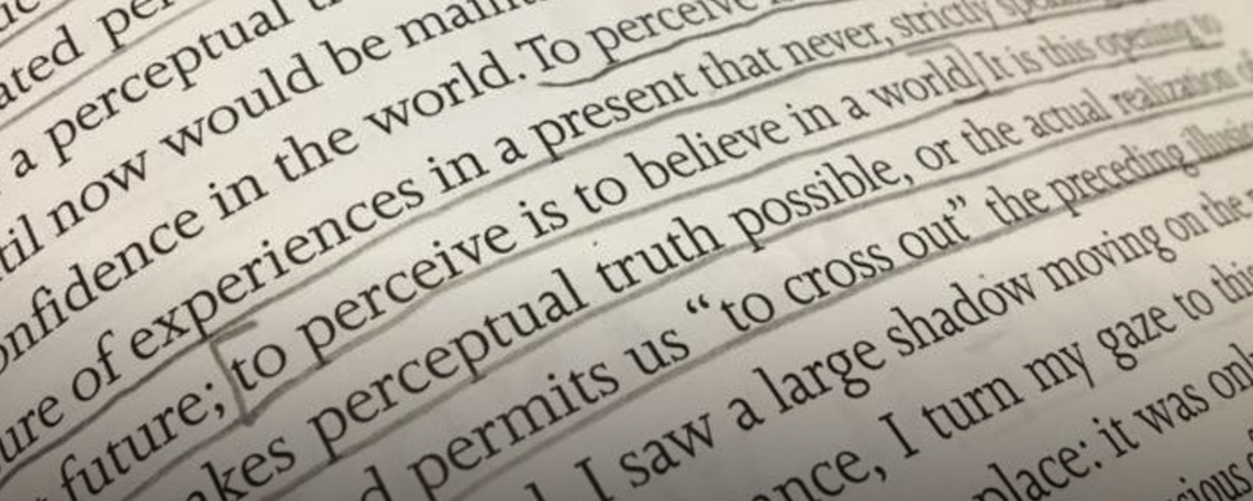 Picture of text from Merleau-Ponty's Phenomenology of Perception