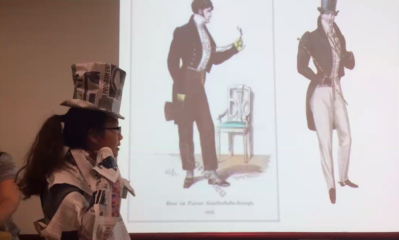 Art History students explore a different side of fashion during a class led by Amelia Rauser.