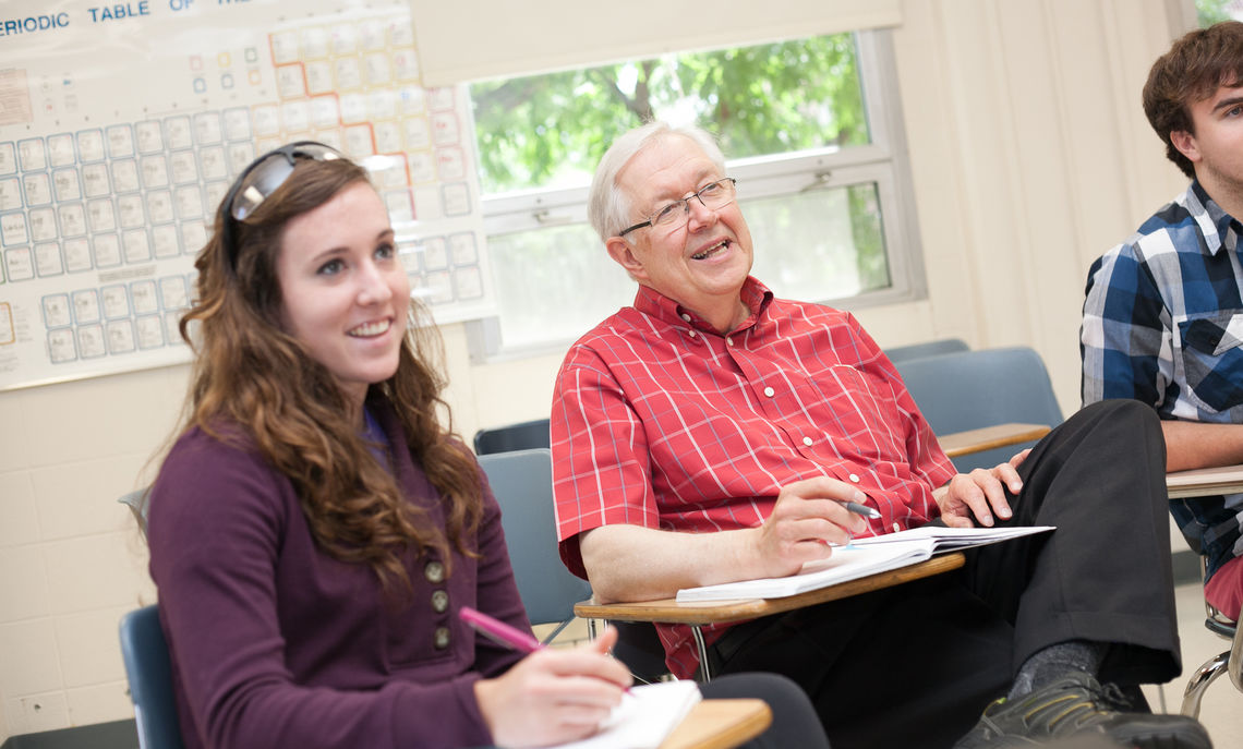 "For Claude Yoder, the Charles A. Dana Professor of Chemistry and Franklin & Marshall's longest tenured faculty member, working on research with students such as senior Emily Christie, a chemistry major, has been ""the most significant experience I've had"" as a professor."