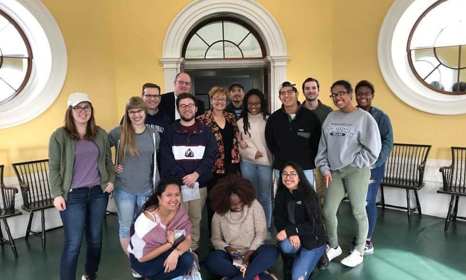 In October 2018 a group of AMS majors and faculty traveled to Thomas Jefferson's Monticello for a behind-the-scenes tour.