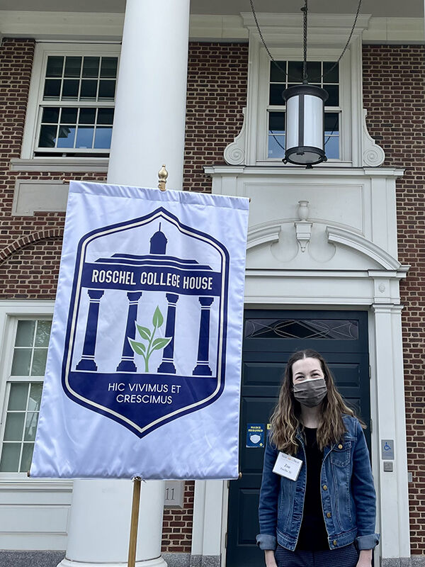 Zoe Favilla '23 says she appreciates that her affiliation to Roschel House is a mainstay throughout her four years at F&M no matter where she goes.