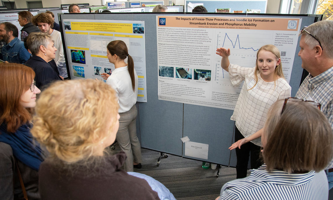 The Autumn Research Fair brought parents and faculty together to hear about several student research projects.
