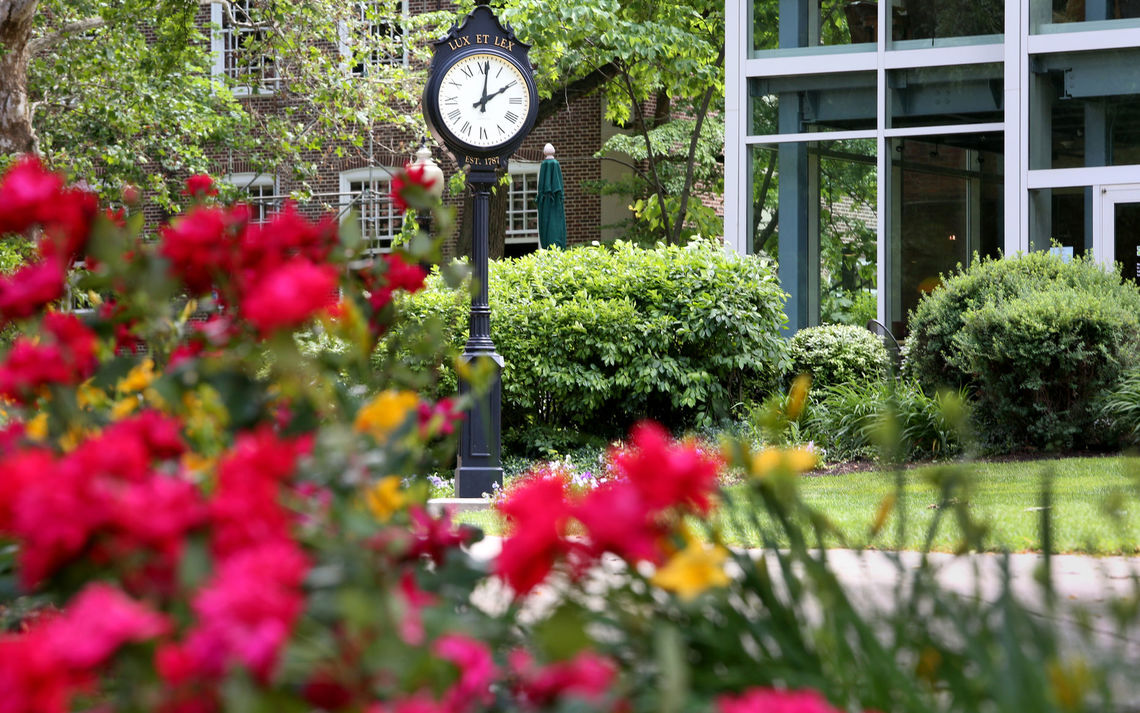 Campus Clock in summer