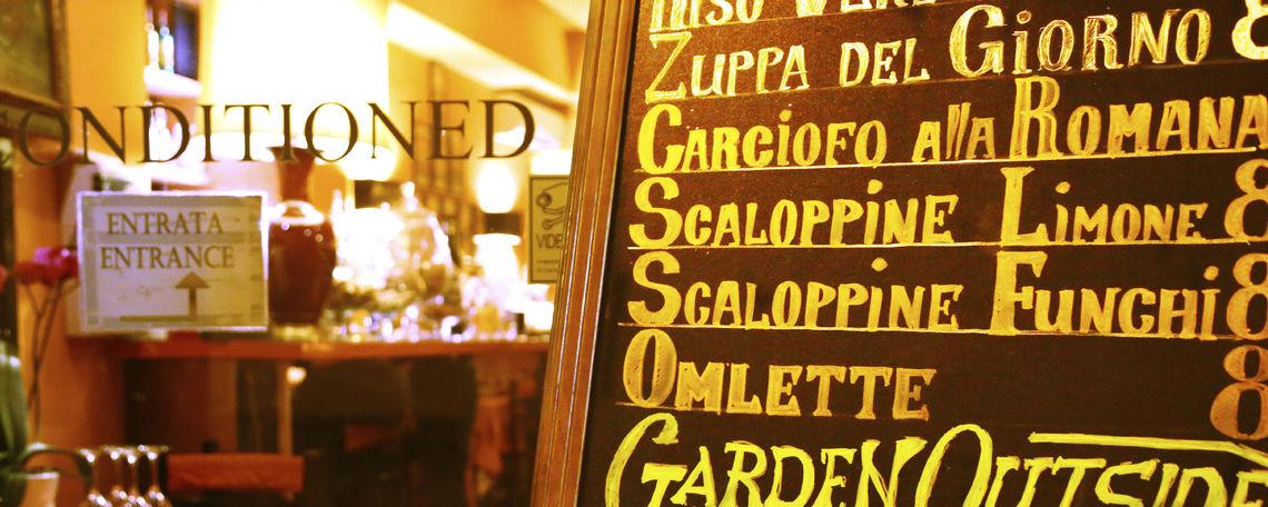 Italian restaurant sign
