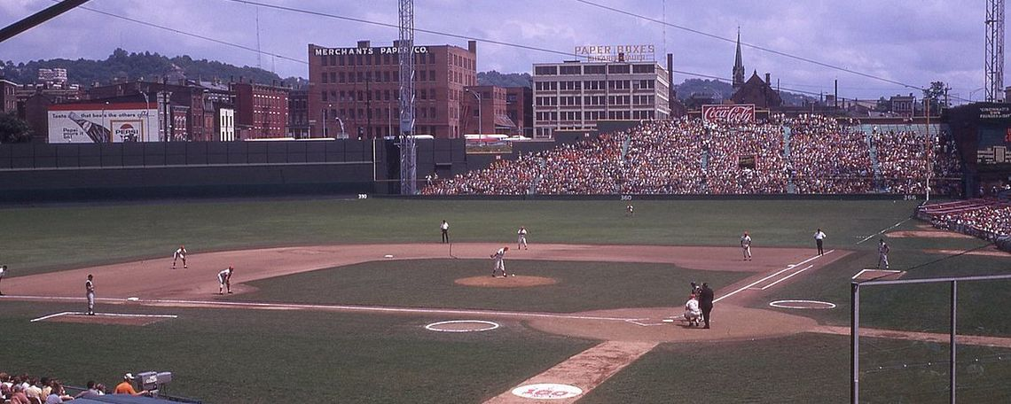 Crosley Field, former home of the Cincinnati Reds, in 1969.