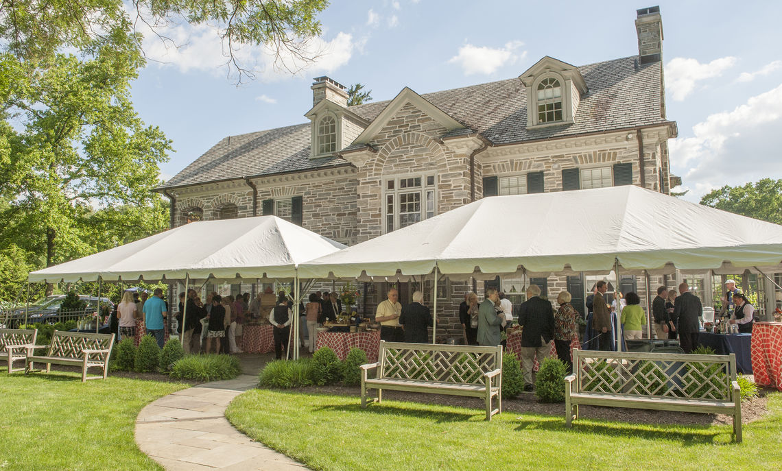 The Saturday afternoon soiree at the President's Home drew alumni and family to mingle before setting out in the evening for the class dinners.