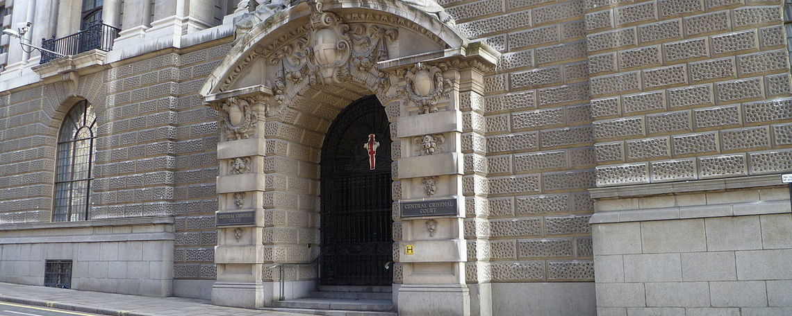 Entrance to the Old Bailey.