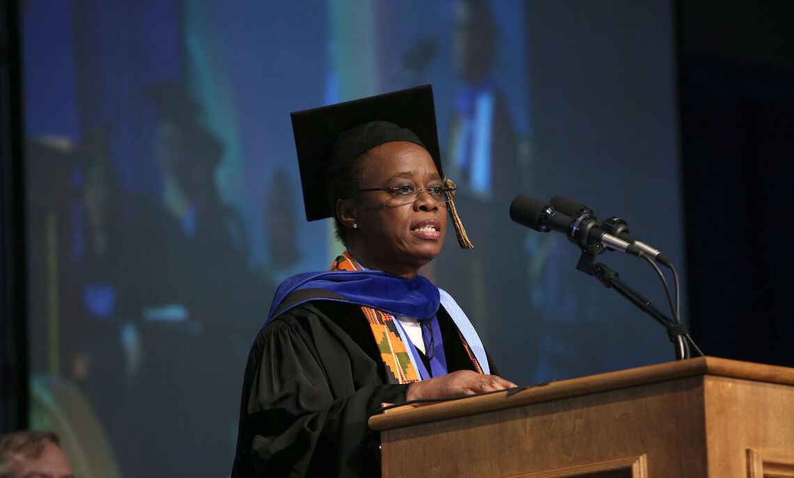 Dr. Wanda Austin delivers the Commencement address May 13. Austin, a 1975 graduate of Franklin & Marshall, is an engineer who recently retired as head of Aerospace Corp., one of the nation's leading aerospace research centers for defense-related space programs.