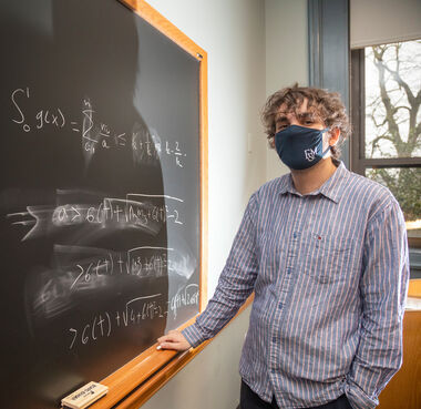 Franklin & Marshall College senior Nart Shalqini's Hackman Scholar's research focuses on tiling a unit square.