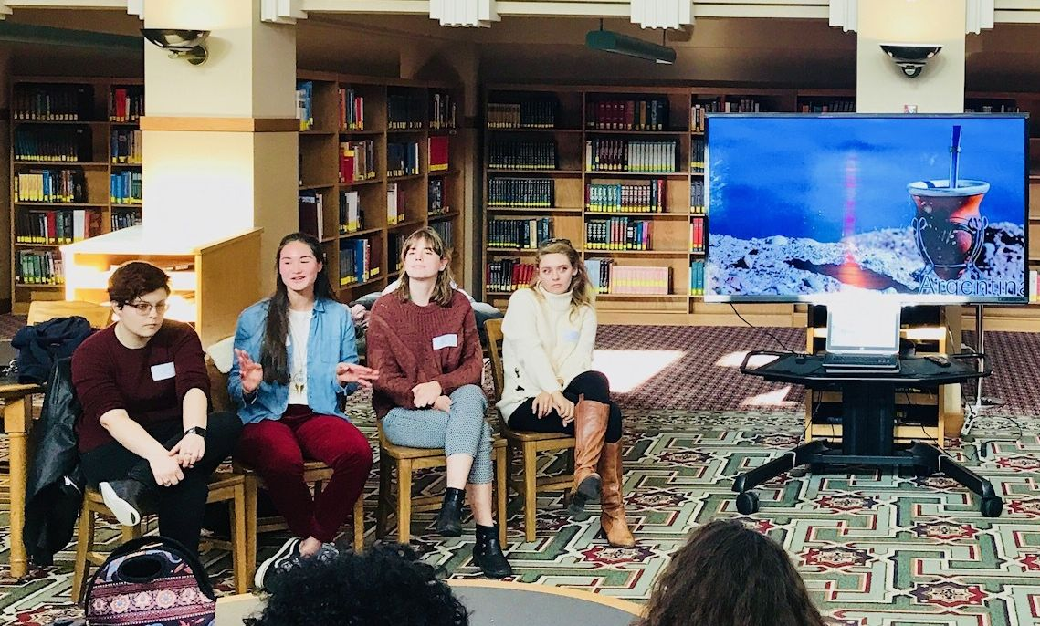 F&M students participated in panels at J.P. McCaskey High School in Lancaster to tell high school students about their study abroad experiences.