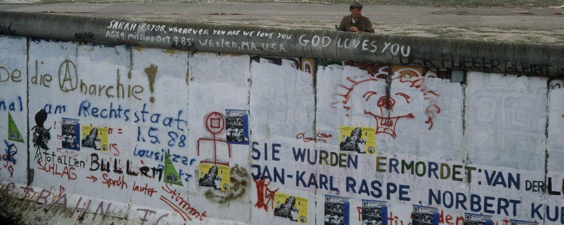 The Berlin Wall circa 1988.