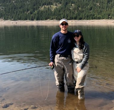 Lior Wolf enjoying the end of his summer break with fellow student Sarah Brook in South Park, Colorado.