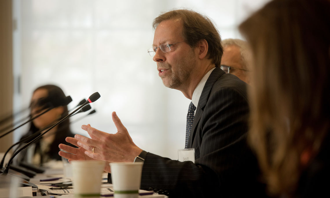 Franklin & Marshall College President Daniel R. Porterfield, speaking last year at the Aspen Institute Task Force on College Opportunity for High Achievers.